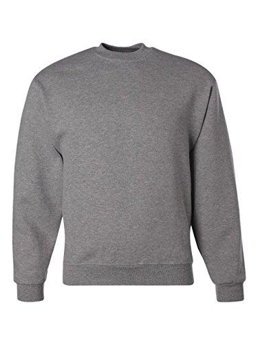Jerzees Adult Preshrunk Fleece Crewneck Sweatshirt, Oxford, (Adult Jerzees Sweatshirt)