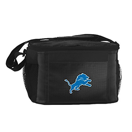 Lions Lunch Box (New NFL Football 2014 Team Color Logo 6 Pack Lunch Bag Cooler - Pick Team (Detroit Lions))