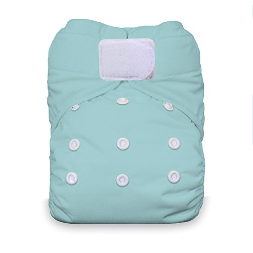 Thirsties One Size All In One Cloth Diaper, Hook & Loop Closure, Aqua