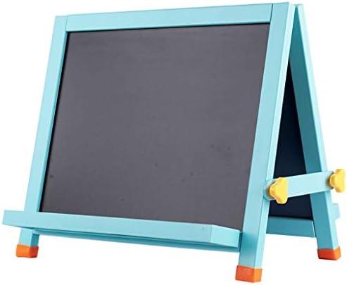 1木製ダブルで2イーゼル、チョーク製図板子供の学習会、ブルーを両面 (サイズ : S)