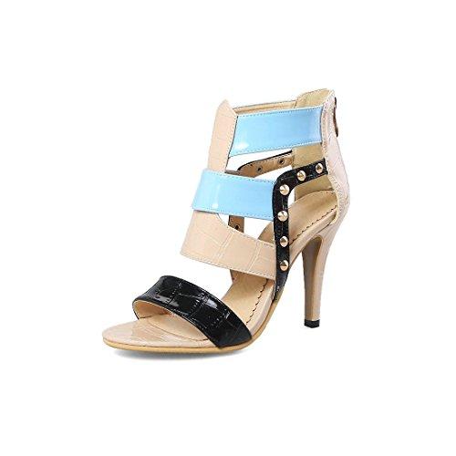 Los Grandes Astilleros Mujer Tacón Europeas Sandalias Alto con Sandalias de Zapatos para Pulsera y Sandalia Americanas Mujeres de Apricot Mujer XwXYgqaT