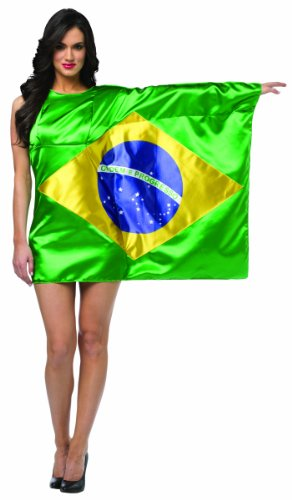Rasta Imposta Women's Flag Dress Brazil, Multi, Fits Sizes 4-10 -