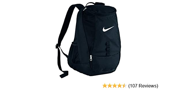 491e74e9dbbf Amazon.com  Nike Club Team Swoosh Backpack Black White Size One Size   Clothing