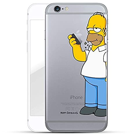 Case for iPhone 7 Plus 5.5'' Simpson Homer Eating Apple Cover for