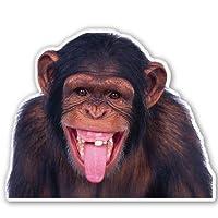AK Wall Art Chimp Funny Monkey Car Vinyl Sticker - Select Size