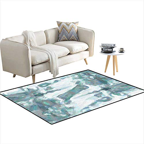 (Area Rugs for Bedroom Abstract Oil Nature Painting 40