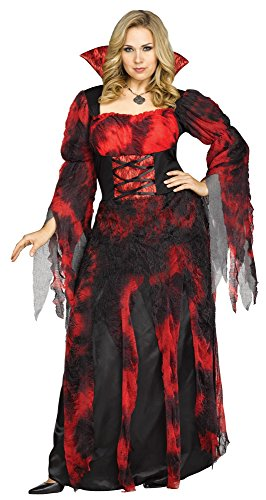 Adult Vampire Countessa Coatume Plus Size 2X (Adult Coatumes)