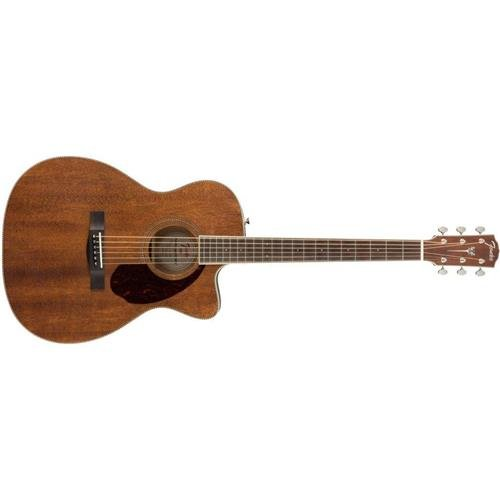 Fender Paramount Series PM-3 Standard All-Mahogany Cutaway Triple-0 Acoustic Guitar Natural