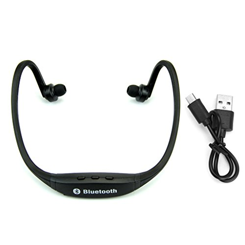 (Wireless Bluetooth Headphones - Powerful Bass Surround Stereo Multimedia Headset Music Earphone Use For Running Jogging In Light Weight For IPhone Android PC TV DVD MP3 By Sixsons)