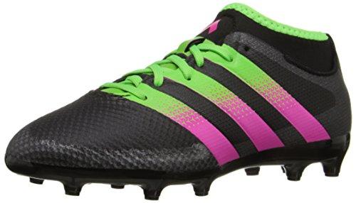 adidas performance ag ace 16,3 primemesh fg / ag performance j chaussure de soccer (petit / grand garçon), Noir  / Vert  / choc rose, 10,5 m petit 1ecc30