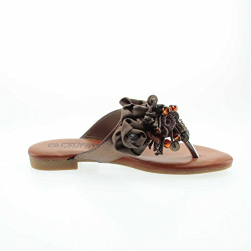 Laufsteg Fs171307 Gold - Zuecos de Material Sintético para mujer marrón