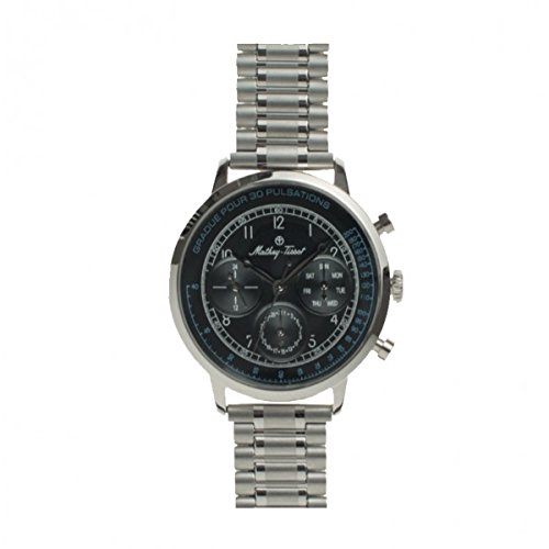 Mathey Tissot Reloj Analógico para Hombre de Cuarzo con Correa en Acero Inoxidable MT0009: Amazon.es: Relojes