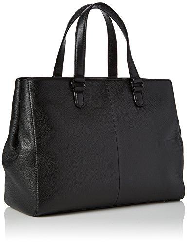 Tous City Alfa de Piel, Bolso Bandolera para Mujer, Negro (Black), 13.5x24x33 cm (W x H x L)