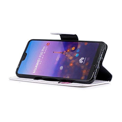 Cuir Pro Pochette Magnetique Pro Cuir de en P20 Stand Housse P20 Etui Portefeuille etui avec pour Huawei Pro Herbests Huawei Housse en téléphone de P20 Raba Panda Huawei 2 Coque Protection Fonction pour Coque 7xCz6wqS