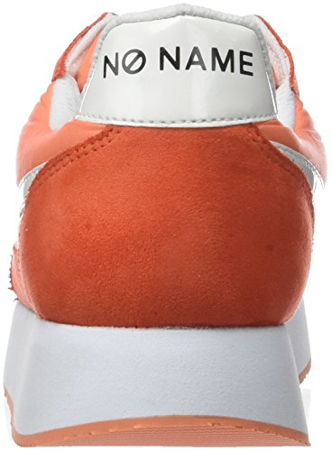 Nylon No Femme Baskets Split Eden Name Basses Corail Jogger Corail Orange w0grtUq0