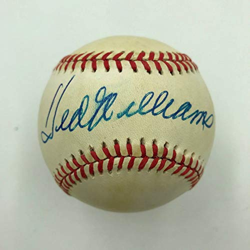 Ted Williams Signed Official American League Baseball With JSA - Williams Figurine Ted