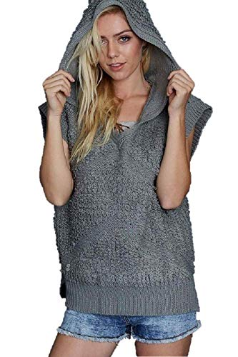 Pol Textured Sweater Vest Hooded Top