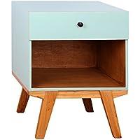Tonality Designs Antique Revival Clementine 1 Drawer Nightstand, Aqua