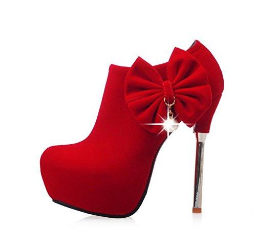 Singolare Profondità Mio Papillon Centimetri Nel Negozio Donne 135 Il Sexy Hgtyu E Bene Sposa Scarpe Scarpe Con Impermeabile Lato In ultra Rosso Femminile Console Scarpe Zip Da 0H8IqY