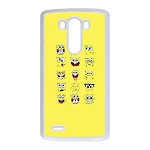 SpongeBob Faces LG G3 Cell Phone Case White&Phone Accessory STC_113565