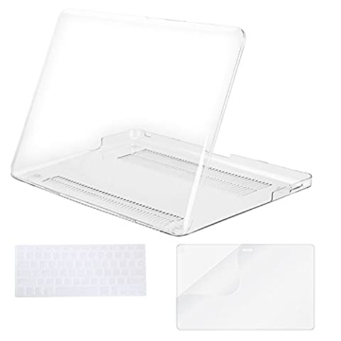Mosiso Plastic Hard Case with Keyboard Cover with Screen Protector Only for Old MacBook Pro 13 Inch with CD-ROM (Model: A1278, Version Early 2012/2011/2010/2009/2008), Crystal (Macbook Pro Rubber Cover 13 Inch)