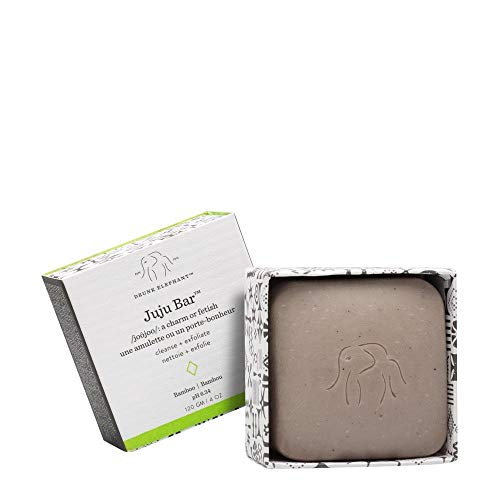 Drunk Elephant Juju Bar - Exfoliating Face Wash and Moisturizing Bar Cleanser. (4 ounce) (Elephant Soap Dish)