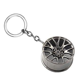 RKG coche moto motor turbo rueda Rim aleaciones Motor Partes llavero regalo, Black Wheel Rim