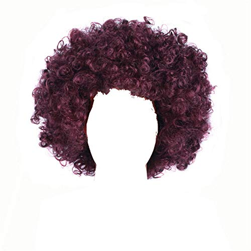 Curly Clown Wig Halloween Football Fan Cosplay