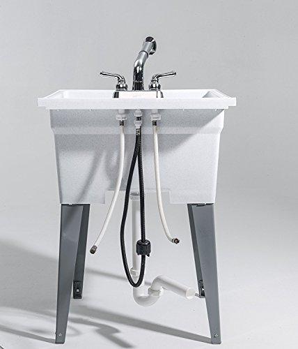 CASHEL 1960-32-21 Sink - Fully Loaded Sink Kit, Steel Leg, White by Cashel (Image #4)