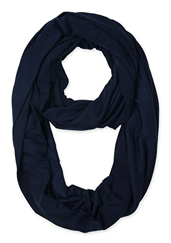 corciova Light Weight Infinity Scarf with Solid Colors