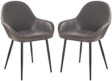 Glitzhome Mid-Century Dining Chairs Set of 2