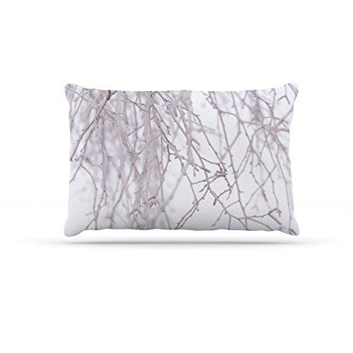 Kess InHouse Monika Strigel Frozen  Fleece Dog Bed, 50 by 60 , White