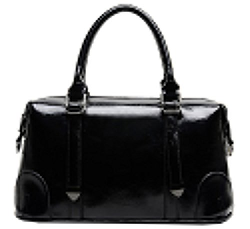 BG® Women Vintage Simple Elements Black High quality Leatherette Boston Style Handbags with a Strap