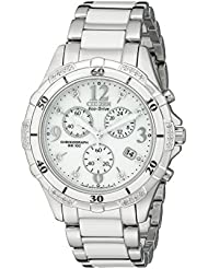 Citizen Womens Eco-Drive Chronograph Watch with Diamond Accents, FB1230-50A