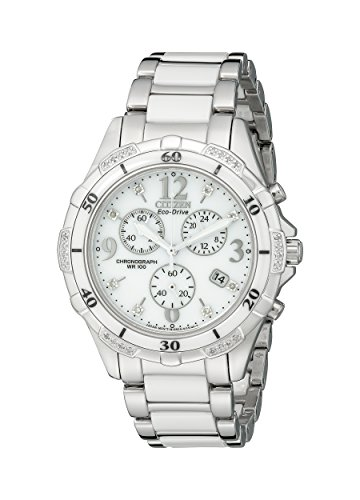 Citizen Diamond Wrist Watch - Citizen Women's Eco-Drive Chronograph Watch with Diamond Accents, FB1230-50A