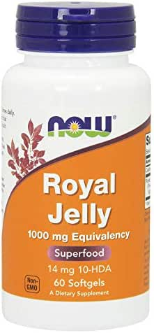 Now Supplements, Royal Jelly 1000 mg with 10-HDA (Hydroxy-D-Decenoic Acid), 60 Softgels