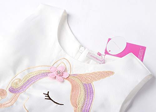 c741b49b50823 JerrisApparel Girls Unicorn Tulle Dress Sleeveless Party Costume Evening  Gowns