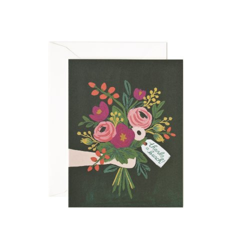 """""""Thanks A Bunch"""" Vintage Blossom Notecards by Rifle Paper Co. -- Set of 8 Cards and Envelopes"""