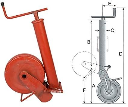 Rueda jockey para remolque 1000 kg capacidad de carga halbautom. con muelle