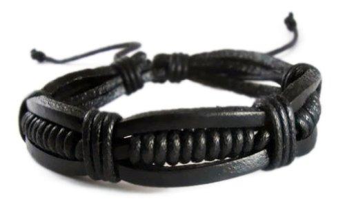 Bracelet Leather Wristband Tribal Adjustable