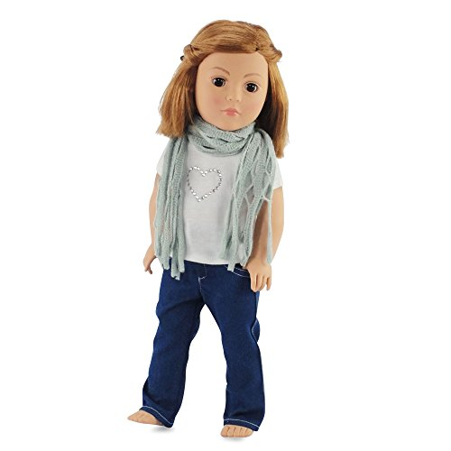 18 Inch Doll Clothes Skinny Jeans & Scarf | Outfit Fits 18