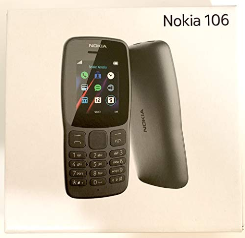 Nokia 106 Single Sim (2018) TA-1190 Dual-Band (850/1900) Factory GSM Unlocked Feature Phone (International Model)