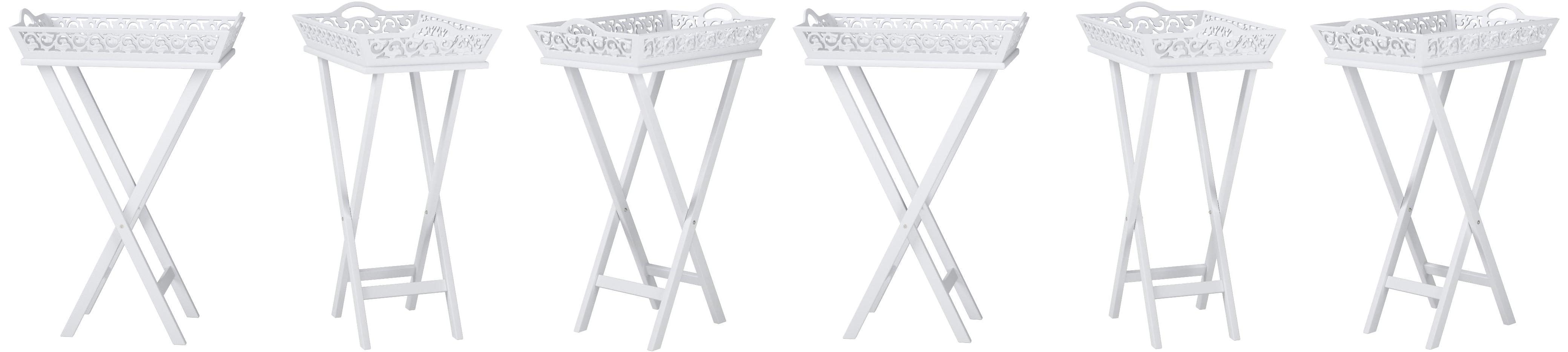 vidaXL Tavolino Laterale e Vassoio Bianco Tavolo Notte Ingresso Notte Salotto