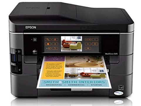 Epson WorkForce 845 Wireless All-in-One Color Inkjet Printer, Copier, Scanner, Fax, iOS/Tablet/Smartphone/AirPrint Compatible (Epson Workforce 100 Mobile)