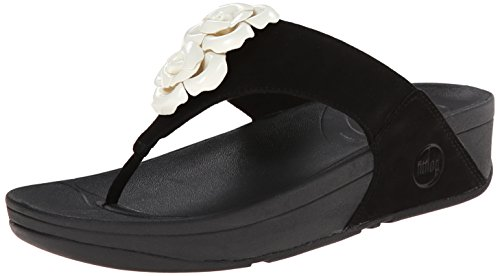 Fitflop Bloom Toe-post - Sandalias Mujer Negro