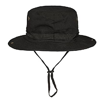 Image Unavailable. Image not available for. Color  X   F Black Military  Boonie Hunting Army Fishing Bucket Jungle Bush Cap Hat 73fa5080a367