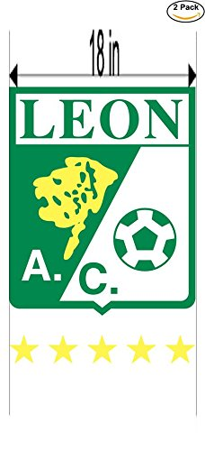 CanvasByLam Leon Mexico Soccer Football Club FC 2 Stickers Car Bumper Window Sticker Decal Huge 18 inches by CanvasByLam