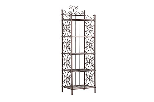 5 Tier Scroll Rack Copper Storage Shelving 15''Lx12''Wx46.5''H by P&H Home Goods