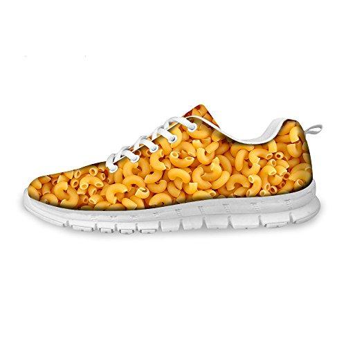 Freewander Lightweight Mesh Flat Running Shoes Sport Shoes 3D Printed Sneaker