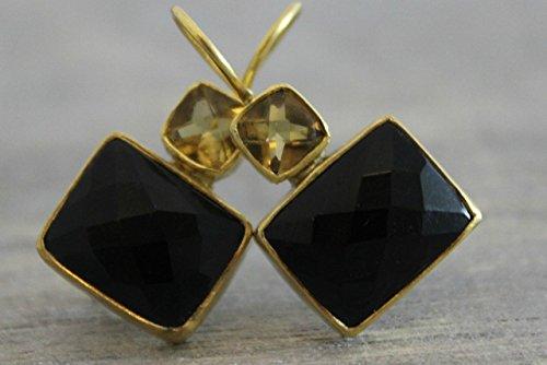 d Plated 925 Sterling Drop Silver Earrings Earwires Graduation gift idea (Lemon Citrine Earrings)